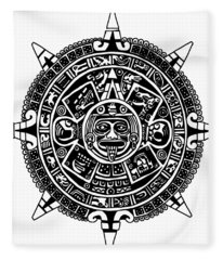 Aztecs Calendar Fleece Blanket