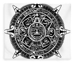 Aztecs Calendar Fleece Blanket
