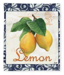 Azure Lemon 1 Fleece Blanket