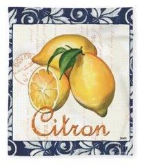 Azure Lemon 2 Fleece Blanket