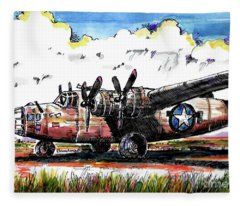 B-24 Liberator Bomber Fleece Blanket
