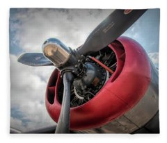 B-24j Liberator Engine II Fleece Blanket