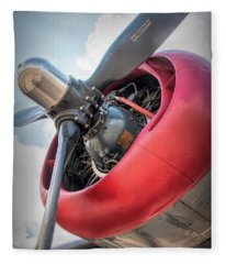 B-24j Liberator Engine Fleece Blanket