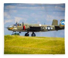 B-25 Landing Original Fleece Blanket