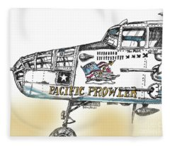 B-25 Mitchell Bomber Fleece Blanket