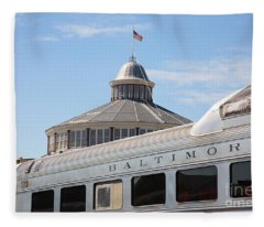 B And O Railroad Museum In Baltimore Maryland Fleece Blanket