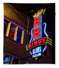 B B Kings On Beale Street Fleece Blanket