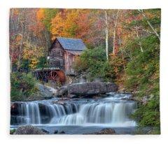 Babcock Grist Mill  II Fleece Blanket