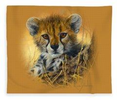 Baby Cheetah  Fleece Blanket