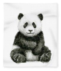 Baby Panda Watercolor Fleece Blanket