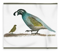 Baby Quail Learns The Rules Fleece Blanket