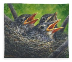 Baby Robins Fleece Blanket