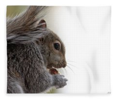 Baby Squirrel Portrait Fleece Blanket