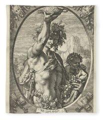 Bacchus God Of Ectasy Fleece Blanket