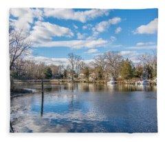 Back Creek Annapolis Md Fleece Blanket