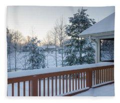 Winter Deck Fleece Blanket