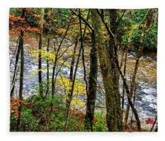 Back Fork Of Elk River Autumn Fleece Blanket