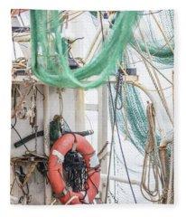 Back Of The Shrimp Boat  Fleece Blanket
