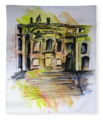 Back Side Basilca St Mary Major Fleece Blanket