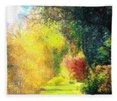 Back Yard Path Fleece Blanket