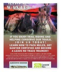 Backcountry Horsemen Join Us Poster II Fleece Blanket
