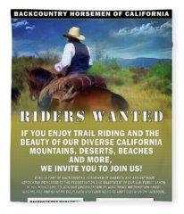 Backcountry Horsemen Join Us Poster Fleece Blanket