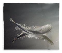 Backlit Feather Fleece Blanket