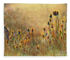 Backlit Thistle Fleece Blanket