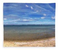 Backwater Bay Pano Fleece Blanket