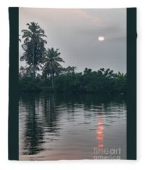 Backwaters-kerala Fleece Blanket