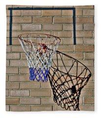 Backyard Basketball Fleece Blanket