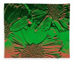 Abstract Flowers 1 Fleece Blanket