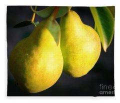 Backyard Garden Series - Two Pears Fleece Blanket
