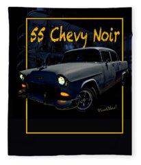 Bad 55 Chevy Rat Rod Fleece Blanket