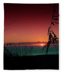 Bad East Coast Sunrise  Fleece Blanket