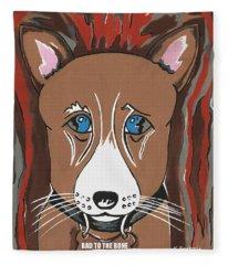 Bad To The Bone - Dog Art Fleece Blanket