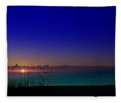 Badblue Sunrise  Fleece Blanket