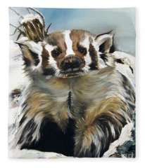Badger - Guardian Of The South Fleece Blanket