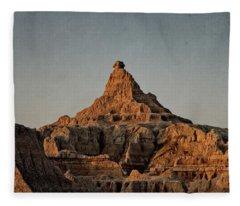 Badlands At Sunrise Fleece Blanket