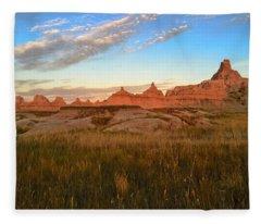 Badlands Evening Glow Fleece Blanket
