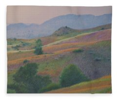 Badlands In July Fleece Blanket