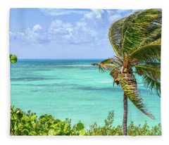 Bahia Honda State Park Atlantic View Fleece Blanket