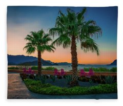 Baja Sunset Fleece Blanket