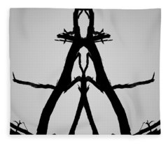Balanced I Bw Fleece Blanket