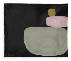 Balanced Modern- Art By Linda Woods Fleece Blanket