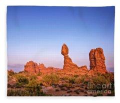 Balanced Rock, Arches National Park Fleece Blanket