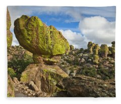 Balanced Rock Formation Fleece Blanket