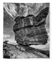 Balanced Rock Monochrome Fleece Blanket