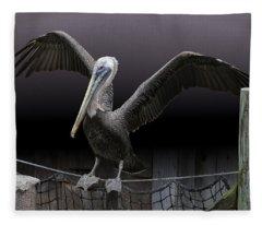 Balancing Act - Pelican Fleece Blanket