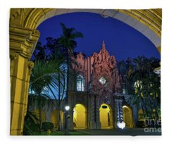 Balboa Park At Twilight In San Diego, California, Usa Fleece Blanket